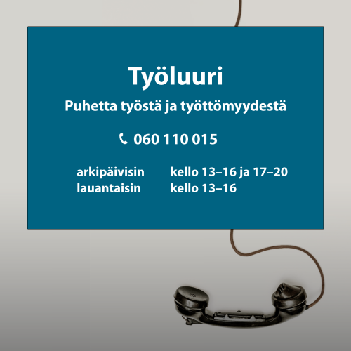 Puhelinluuri ja tekstiä
